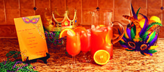 Mardi Gras Party Hurricanes by Kelly Spalding  #MardiGrasParty #SouthernEntertaining #KellySpaldingDesigns