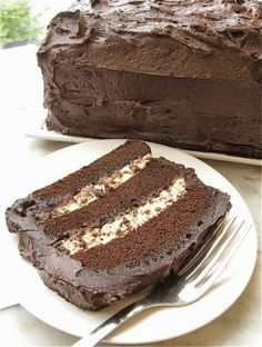 Chocolate Cassata - Chocolate Cannoli Cake - definitely a winner, very extremely light to taste. The cake stayed very moist without drying while left on the counter.