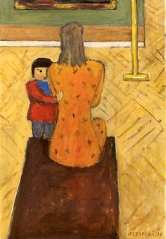 J. Czapski, Al museo, 1973, olio su tela