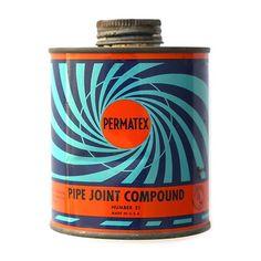 Permatex Pipe Joint Compound. #vintagepackagedesign #vintagepackaging #vintagegraphicdesign #vintageautomotive #permatex #vintagepermatex by purveyors_of_packaging