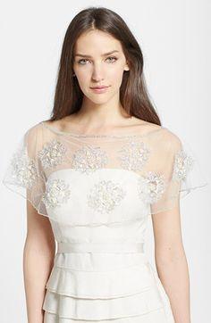 1920s Wedding Shawl: Wedding Belles New York Embroidered Capelet