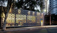 Gallery of Manish Restaurant / ODVO arquitetura e urbanismo + Mínima - 21 Cinder Block Walls, Retail Facade, Facade Design, Design Furniture, Retail Design, Restaurant Design, Cladding, Installation Art, Modern Architecture