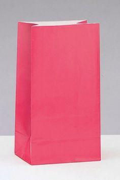 Fuschia pink party bags.  From the Fuschia Boutique at www.fuschiadesigns.co.uk.
