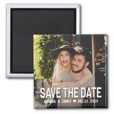 Simple White Overlay Photo Save The Date Magnet - tap, personalize, buy right now! Save The Date Magnets, Save The Date Cards, Wedding Color Schemes, Wedding Colors, Photo Magnets, Wedding Save The Dates, Christmas Wedding, Amazing Gardens, Overlays