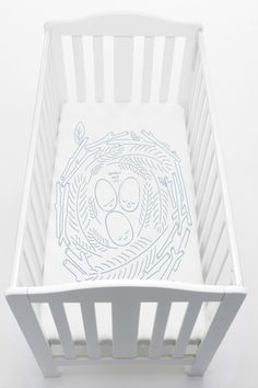 Cot sheets for babies, with a sense of humour