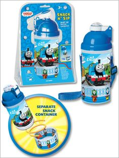 Thomas & Friends Snack & Sip Pop-up Straw Canteen