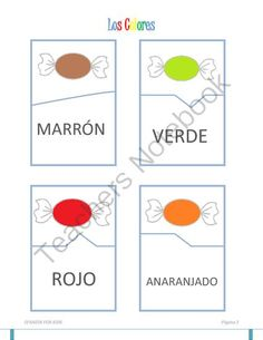 Los Colores (Flashcards and puzzle cards) from Español para niños on TeachersNotebook.com -  (11 pages)  - Los colores (flashcards and puzzles) with gumballs and candy to teach the colors to the little ones in your Spanish class.