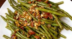 These haricots fresh are nice and easy, but still very special because of the combi . - These fresh haricots are nice and easy, but still very special due to the combination of balsamic a - Green Bean Recipes, Beans Recipes, Blueberry Recipes, Cajun Recipes, Happy Foods, Green Beans, Side Dishes, Dinner Recipes, Easy Meals
