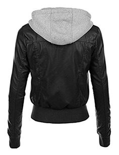 Womens Leather Zip Up Bikers Jacket With Hoodie For Sale | Black Leather Jackets for women | Leather Jackets for Women (XXXL) at Amazon Women's Coats Shop