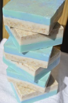 How to make this Beach Side Soap using melt and pour bases