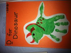 D is for dinosaur handprint