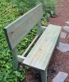 Four foo Pine Bench in Olympus Green
