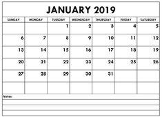 January 2019 Calendar With Canadian Holidays #January2019 #January