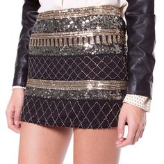 Sequins Mini Skirt Black, 57,50€, now featured on Fab.