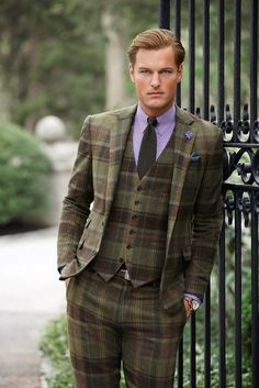 Fall is the best time for a plaid suit.