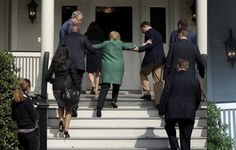 Hillary Clinton's health in rapid collapse... voters in shock after photos show her unable to walk up small flight of stairs