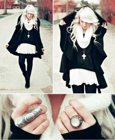Black Riding Hood - Black and White Fashion