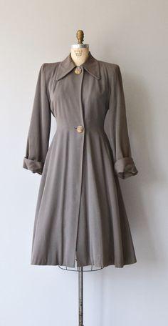 Liskeard coat vintage 1940s coat wool 40s princess by DearGolden