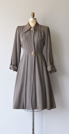 Liskeard coat vintage 1940s coat wool 40s princess by DearGolden