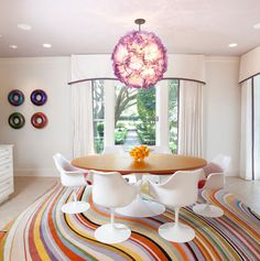 Love the Paul Smith rug in the kitchen or dining room.