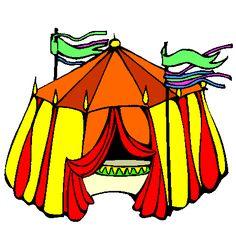 1000 images about dessin colorier et dessin non colorier on pinterest clowns lisa simpson - Dessin d un chapiteau de cirque ...