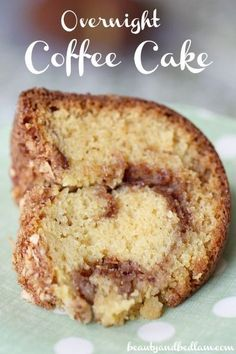 Super easy cinnamon coffee cake. Moist and dense. Perfect if you want to bring a homemade dessert to a dinner but don't feel like walking through 15 steps.
