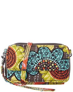 127f219fd3 Vera Bradley Women s All In One Crossbody Flower Shower 1 One Size - The  best selling wristlet is back in stock!