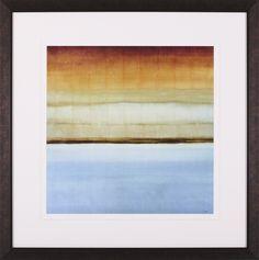 Blue Foam II Framed Painting Print
