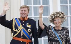 Dutch Queen Beatrix, right, will abdicate in favour of her son Willem-Alexander who becomes King on 30 April 2013. Photo: AFP