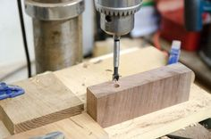 drill press for coat rack