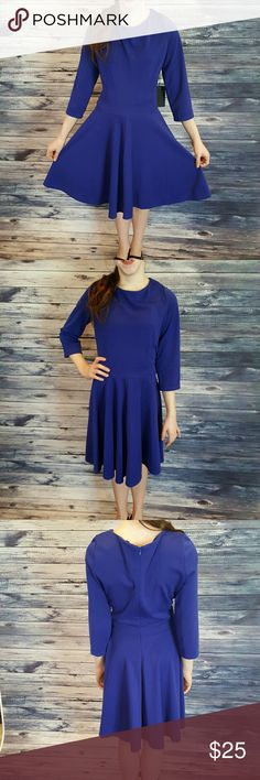 Blue fun date dress, size M NWT Perfect for date night.  It's a blue flare dress, size medium NWT. All my stuff comes from a smoke free and pet free home.  I encourage you to bundle to save on shipping, so check out my closet for other deals! 41hawthorn Dresses Mini