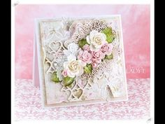 Romantic Shabby Chic Card Tutorial Wild Orchid Crafts - YouTube