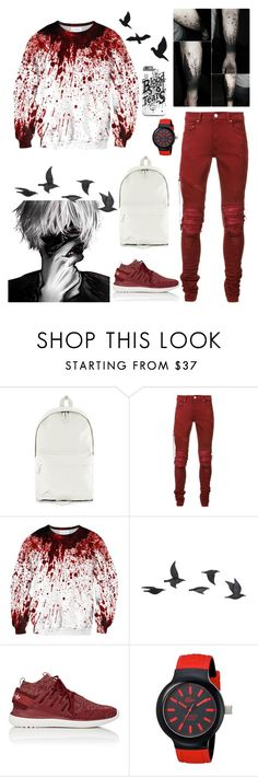 """""""my mood today..."""" by i-am-your-pain ❤ liked on Polyvore featuring Topman, AMIRI, Poste, Jayson Home, adidas and Lacoste"""