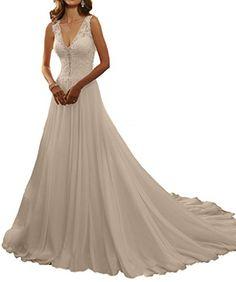 Cardol Sexy V-neck 2017 Beach Wedding Dresses Lace Appliq... https://www.amazon.com/dp/B01MDTB3QC/ref=cm_sw_r_pi_dp_x_yXyHyb367THKY