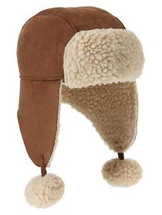 Favorite sherpa trapper hat | Gap ... OMG seriously I can't handle. Little man might actually be getting this.
