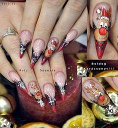 My Nails, Class Ring, Beauty, Fingernail Designs, Xmas, Art, Beauty Illustration