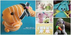 How to Make a Bunny out of Socks? An old sock that has lost its partner can have a new life as a bunny with all these fun and easy tutorials we round up here. They are great gift delivery for Easter or Kids toys or just room decorations.