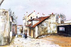 Maurice Utrillo The House Of Mimi Pinson oil painting reproductions for sale