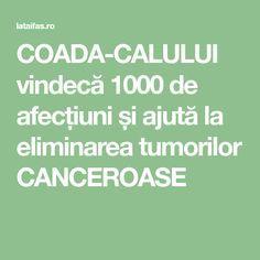 COADA-CALULUI vindecă 1000 de afecțiuni și ajută la eliminarea tumorilor CANCEROASE Alter, Home Remedies, Good To Know, Health And Wellness, Learning, Healthy, Fitness, Therapy, Remedies