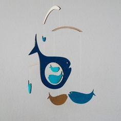 Fish & Whale Mobile Fish Baby Mobile by BigImaginationDesign