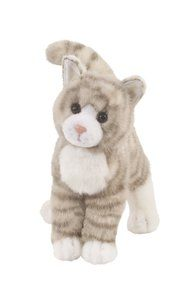 "Zipper Grey Tabby Cat 10"" by Douglas Cuddle Toys. Available at OurPamperedHome.com"