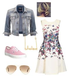 """""""Untitled #126"""" by heytherecar0line ❤ liked on Polyvore featuring Ray-Ban, Jolie Moi, Sydney Evan, maurices and Vans"""