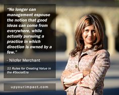 I love the deep thinking here. Nilofer Merchant tells it like it is - companies can't just pay lip service to being open to ideas. Their processes of not only managing those ideas, but also how the organization governs itself, promotes people and makes decisions, must also display a similar level of openness. Otherwise, good ideas will continue to die early and unnecessary deaths at the hands of well-meaning but short-sighted managers.