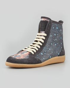 Milky Way Print High-Top Sneaker by Maison Martin Margiela at Neiman Marcus.