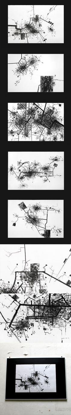 The City by Gosia Zalot, via Behance