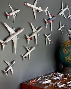 Kinderkamer vliegtuigen  Gave wand decoratie!
