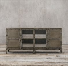 Restoration Hardware(レストレーションハードウェア)チェスト/Industrial Tool Chest 4 Door Media Aged Gunmetal