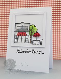 Card by SPARKS DT Jenny Mullens PS stamp sets: Promenade, Think Fast