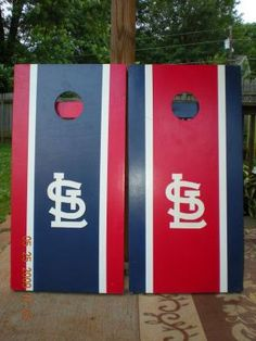 St. Louis Cardinals Cornhole Boards Stl Cardinals, St Louis Cardinals, Diy Cornhole Boards, Corn Hole Game, Lawn Games, Summer Diy, Outdoor Games, Theme Ideas, Best Part Of Me