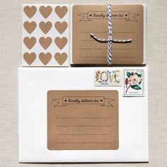 Pour des paquets jolis    Weheartpaper, sur Etsy
